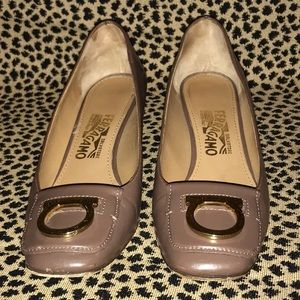 Authentic Ferragamo low heel pumps